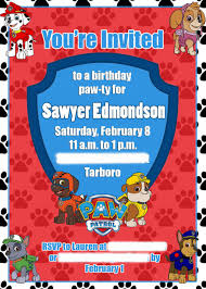 paw patrol e invitations to inspire you thewhipper