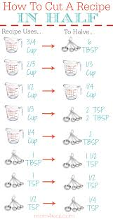 printable shot recipes how to cut a recipe in half printable kitchen conversion chart