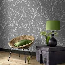 Easy Removable Wallpaper by Graham U0026 Brown Charcoal And Silver Innocence Removable Wallpaper