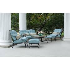 Patio Furniture Set by Hanover Oceana 6 Piece Outdoor Lounging Set Walmart Com