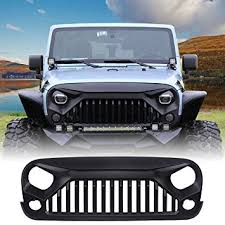 monster jeep jk amazon com u max front matte black gladiator grid grill for jeep