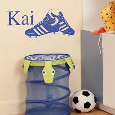 personalised football boots wall sticker by nutmeg