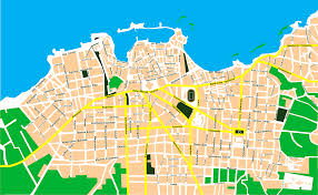 Crete Map City Map Of Chania Crete Tournet Greece