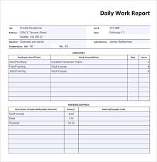 daily work report template daily report template word fieldstation co