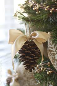 pine cone bow ornament diy christmas ornaments pine cone christmas