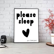 please sleep baby nursery hipster style black and white tribal