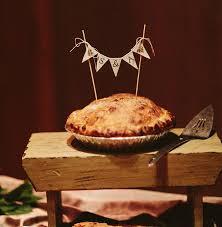 monogramed baker banner wedding cake topper pie topper bunting