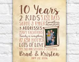 10th anniversary gift ideas for him 10 year anniversary gift gift for men women his hers 10th