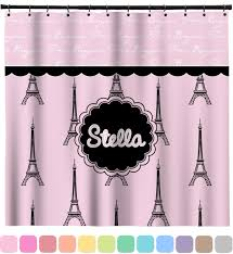 Eiffel Tower Bedroom Curtains Paris U0026 Eiffel Tower Shower Curtain Personalized Potty