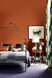 earth terracotta bedroom wall paint colour ideas