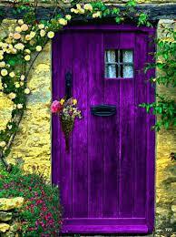 beautiful color purple door doorway to another world pinterest