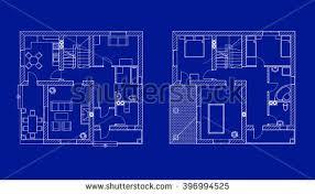 black white floor plans modern apartment stock vector 395421235