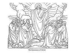 jesus ascension coloring page jesus coloring pictures children