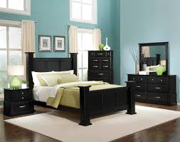 comely blue and black ikea bedroom decoration using light blue