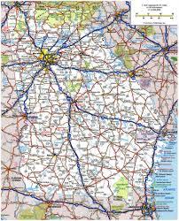 Map Of Savannah Ga Large Roads And Highways Map Of Georgia State Georgia State Large