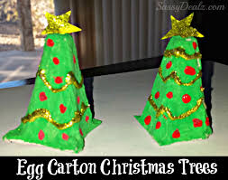 recycled egg carton christmas tree craft kids crafty morning
