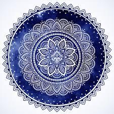 bohemian indian mandala towel print vintage henna tattoo style