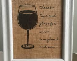 burlap wine print etsy