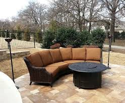 Yard Art Patio Fireplace Patio Renaissance Monticello Sectional With Tiki Torches From