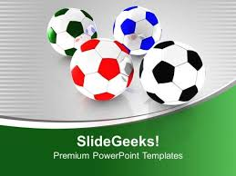 colored football for game theme powerpoint templates ppt