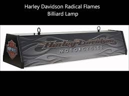 harley davidson pool table light harley davidson radical flames billiard l youtube