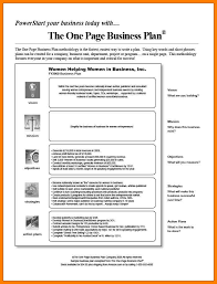 business plan format in word 11 one page business proposal format uchup state
