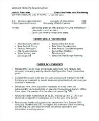 corporate resume format resume format templates sales and marketing resume marketing
