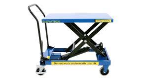bigdug medium duty single scissor lift table product video youtube