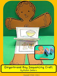 gingerbread man sequencing skills and story retelling craft kid