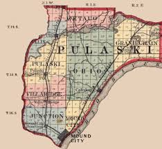 Illinois City Map by Pulaski County Illinois Maps And Gazetteers