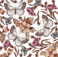 butterfly floral 04 vector free vector 4vector