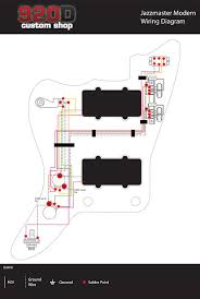fender modern jazzmaster guitar pre wired wiring harness 2v2t reverb