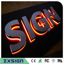 factory outlet stainless steel backlit channel letters led