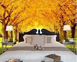 beibehang 2017 latest silk cloth wallpaper golden tree grass green