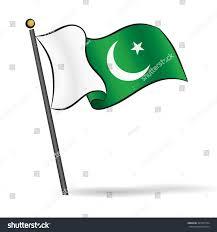 Pakistane Flag Pakistani Flag Waving On Wind Vector Stock Vector 301505534