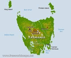 map of tasmania australia physical map of tasmania australia
