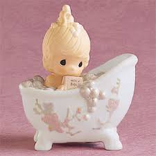 baptism figurines moments he cleansed my soul girl in bathtub baptism figurine