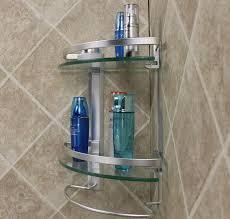 best aluminum 2 tier glass shelf corner shower holder bathroom