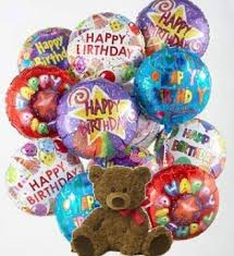 balloons and teddy delivery absolutely flowers inc dozen happy birthday mylar balloons and a