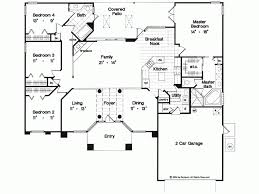 four bedroom house plans one story house plan elegant one story home square feet house plans 22946