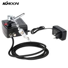 kkmoon 100 250v professional gravity feed dual action airbrush