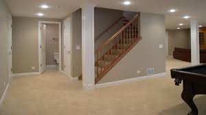 recessed baseboard decor gray accent wall design with wood staircase also baseboard