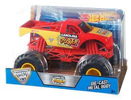 grave digger monster truck merchandise amazon com wheels carolina crusher monster jam 1 24 megalodon
