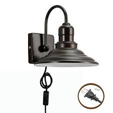 Gooseneck Wall Sconce Metallic Gooseneck Wall Sconces Barn Warehouse Farmhouse Black