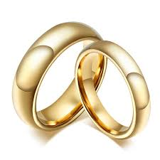 wholesale gold rings images Wholesale 1 pair tungsten carbide gold ring for men women lovers jpg