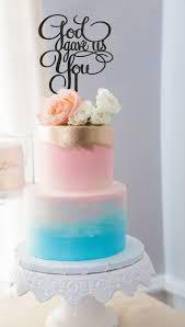 baptism cake toppers baptism cake topper baby shower cake topper god gave us you cake