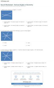 quiz u0026 worksheet vertical angles in geometry study com