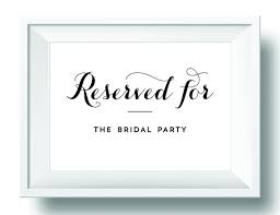 printable reserved table signs reserved table sign printable wedding sign reception head table