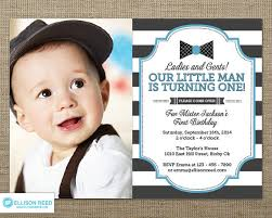 little man birthday invitation bow tie invitation first