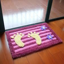 Rugs For Bathrooms by Multi Color Foot Shaped Bath Mat Bath Mat Non Slip Floor Carpet